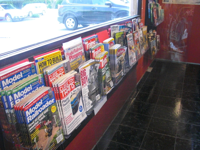 a wide assortment of magazines